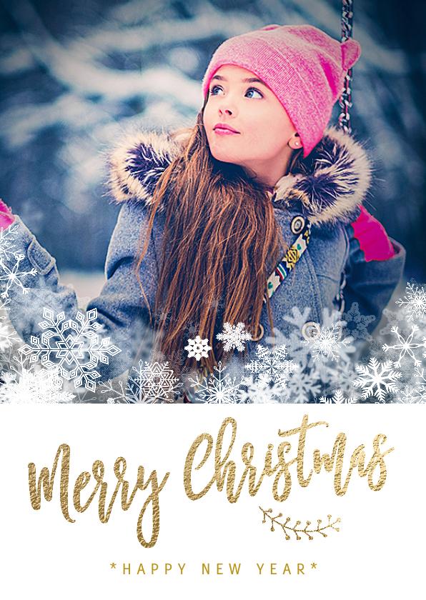 Kerstkaarten - Foto kerstkaart hip sneeuw