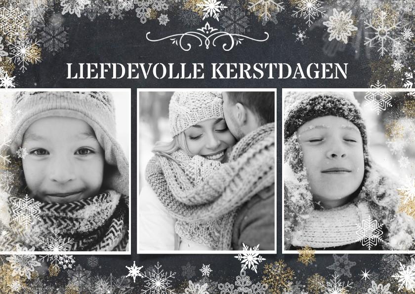 Kerstkaarten - Liefdevolle kerstkaart met 3 foto's in zwartwit