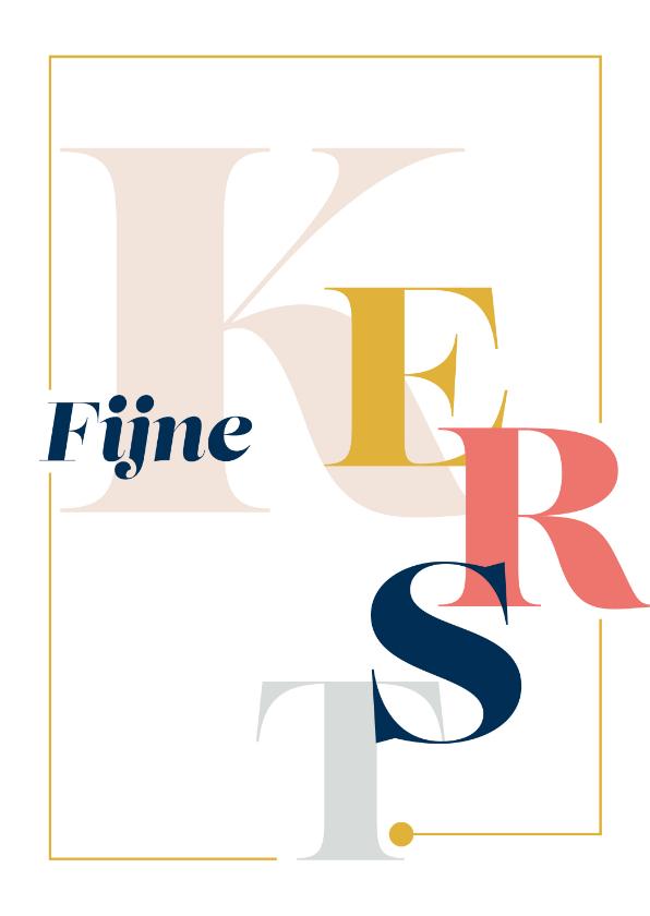 Kerstkaarten - Magazine typografie kerstkaart