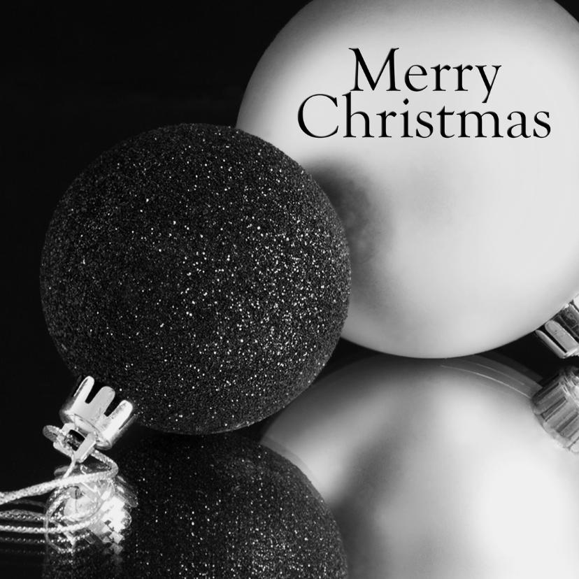 Kerstkaarten - Merry christmas balls