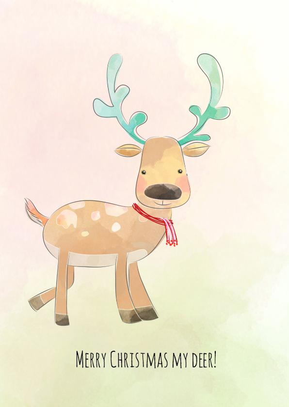 Kerstkaarten - Merry christmas my deer