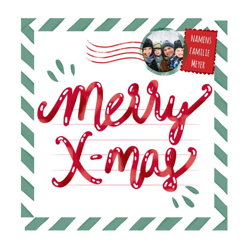 Kerstkaarten - Merry Xmas postcard