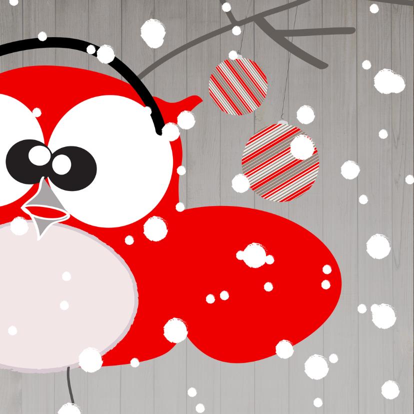 Kerstkaarten - Mo Card humor kerst uil-sneeuw