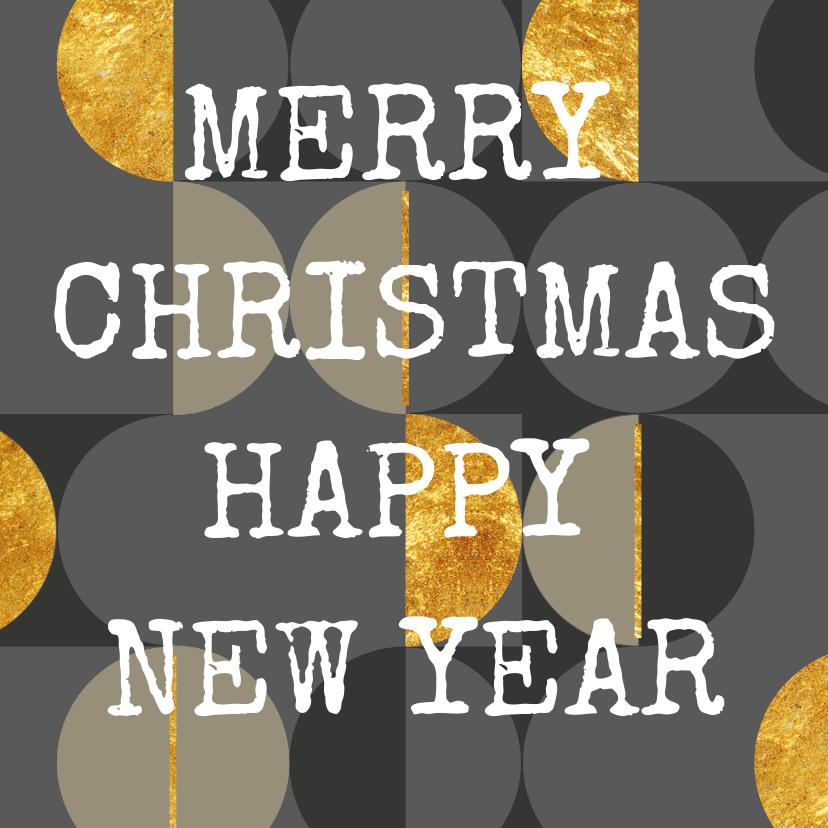 Kerstkaarten - Moderne kerstkaart, grijs met goud. Christmas. New Year