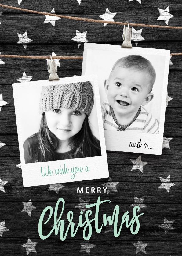 Kerstkaarten - Moderne kerstkaart sterren fotos