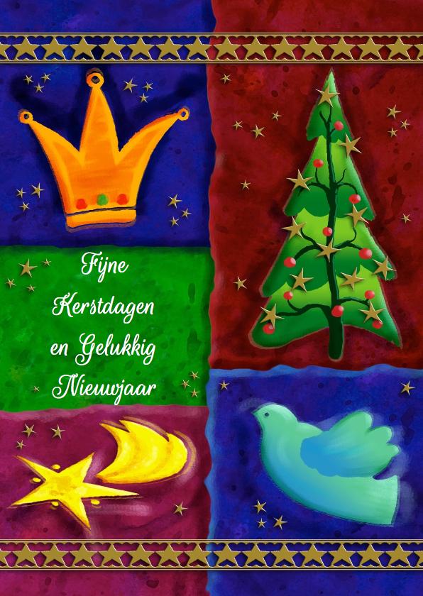 Kerstkaarten - Mooie kerstkaart met tekst Fijne Kerstdagen