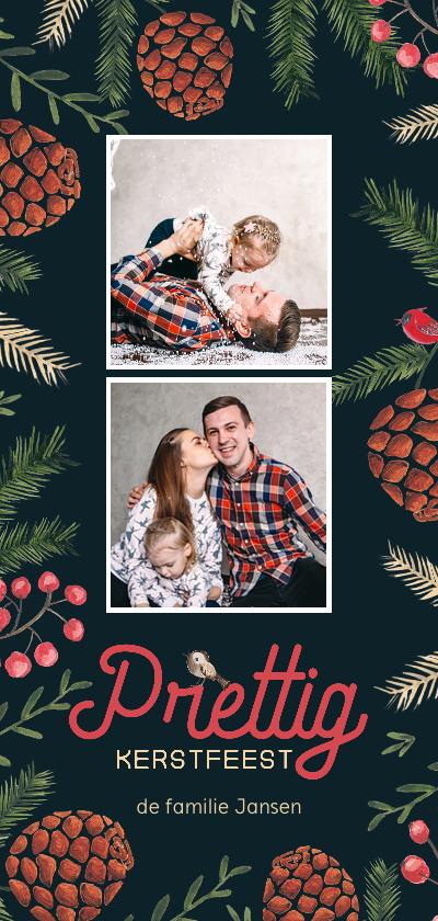 Kerstkaarten - Prettig Kerstfeest Dennenappel