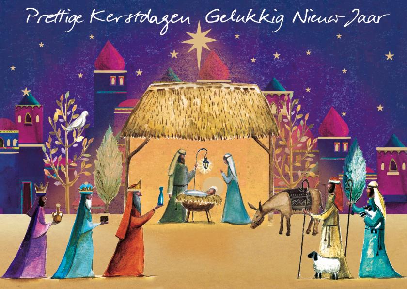 Kerstkaarten - Prettige kerstdagen en gelukkig nieuw jaar kaart