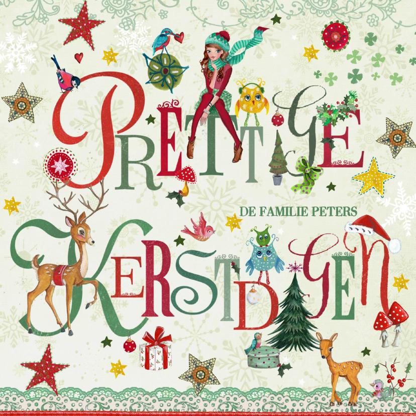 Kerstkaarten - Prettige Kerstdagen Letters