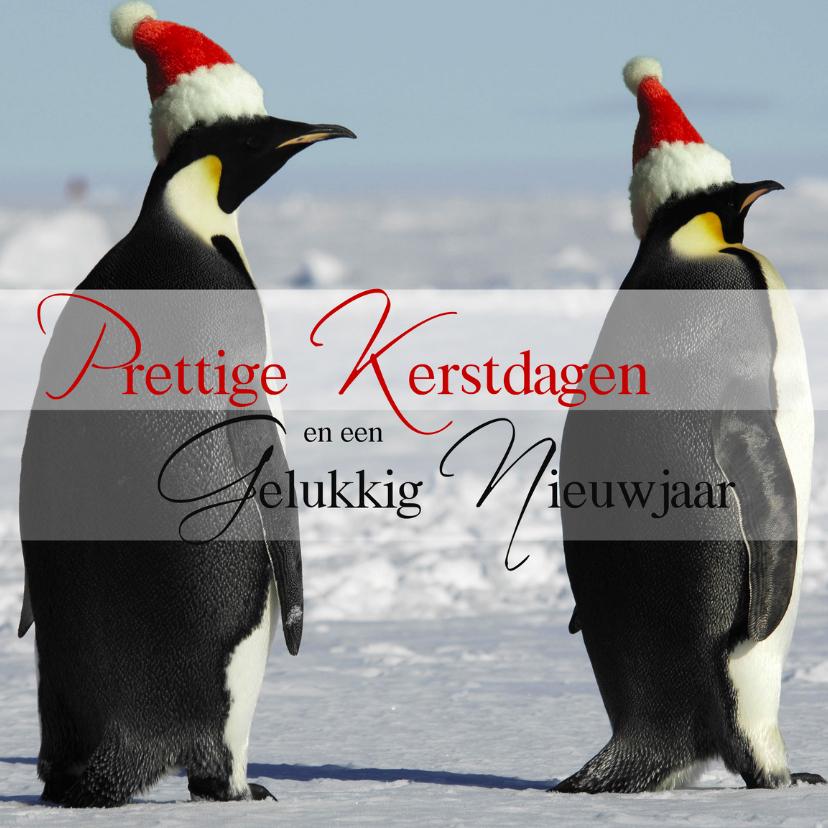 Kerstkaarten - Prettige Kerstdagen Pinguins