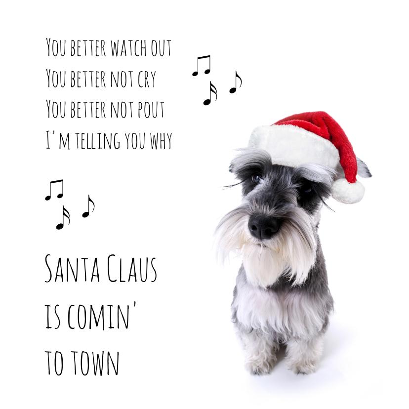 Kerstkaarten - Santa claus dog-isf