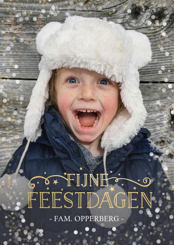 Kerstkaarten - Stijlvolle en feestelijke kerstkaart met eigen foto