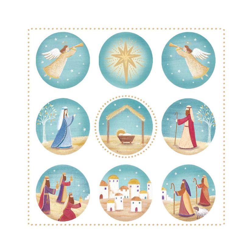 Kerstkaarten - Stijlvolle kerstkaart met het Kerstverhaal