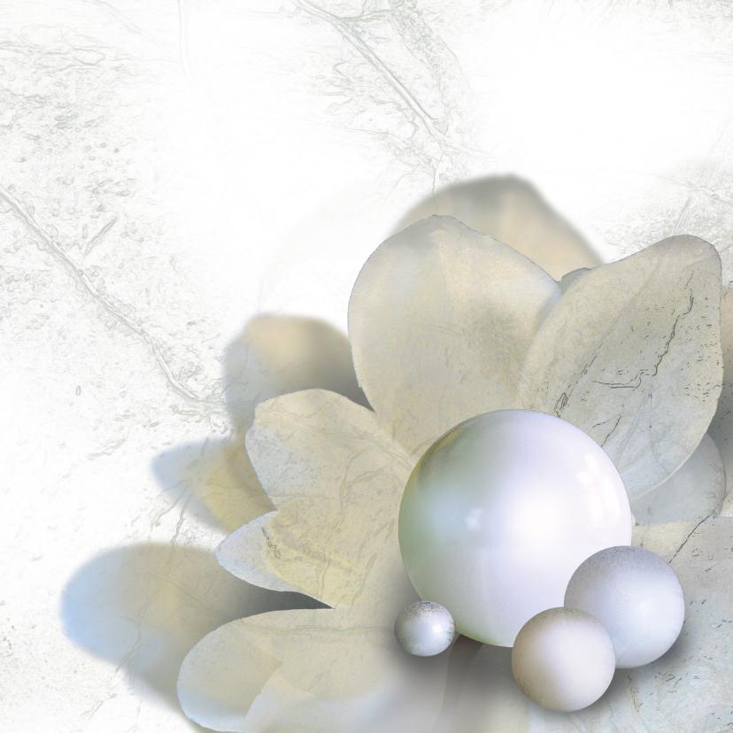 Kerstkaarten - Stijlvolle kerstkaart parel