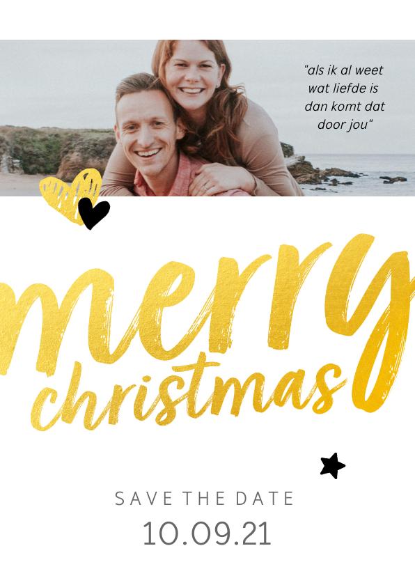 Kerstkaarten - Trouwkaart - save the date merry christmas