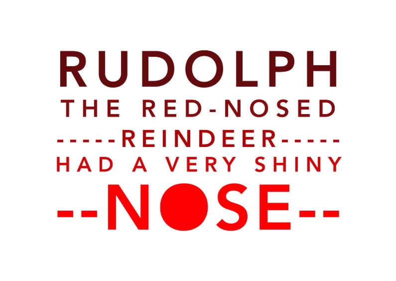 Kerstkaarten - Typografie rudolph - DH