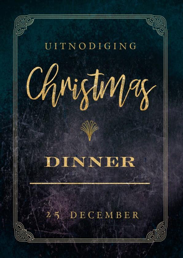 Kerstkaarten - Uitnodiging voor de kerst