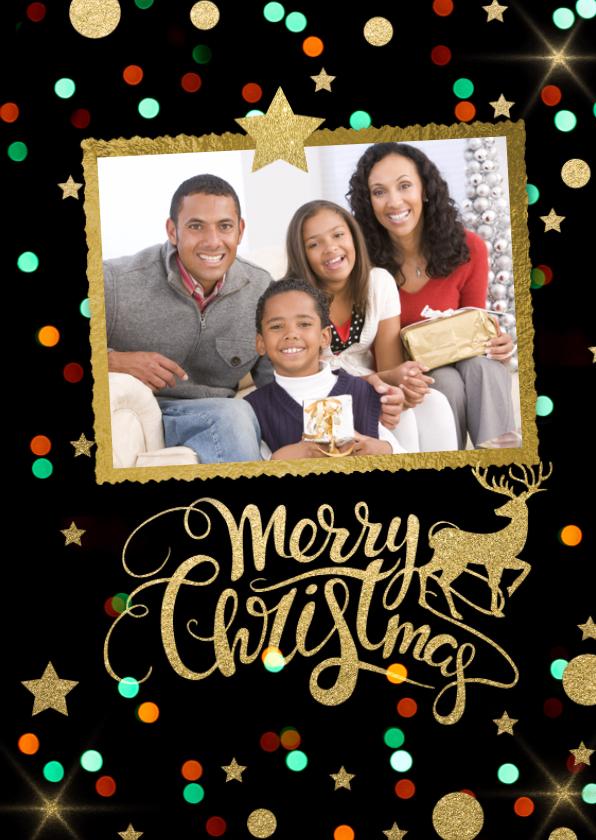 Kerstkaarten - Unieke foto feestelijke kerstkaart  - LO