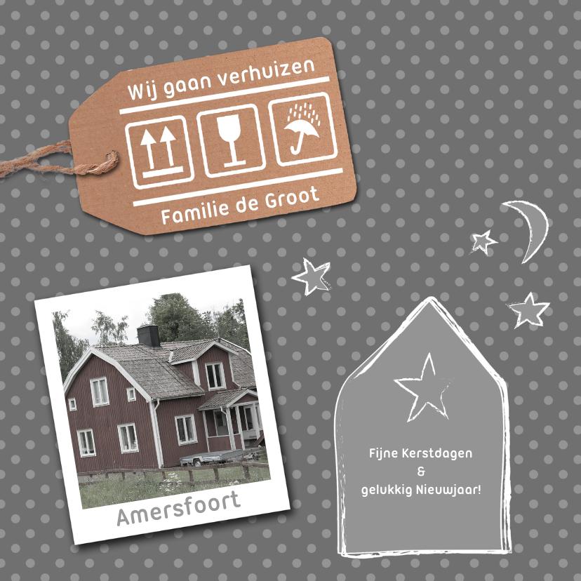 Kerstkaarten - verhuiskaart december grijs