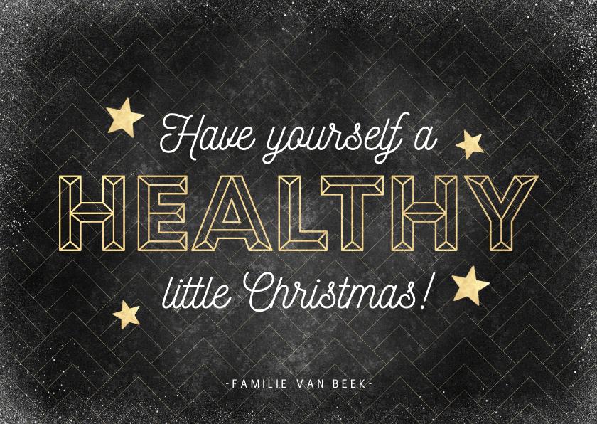 Kerstkaarten - Vintage kerstkaart Have yourself a healthy little Christmas