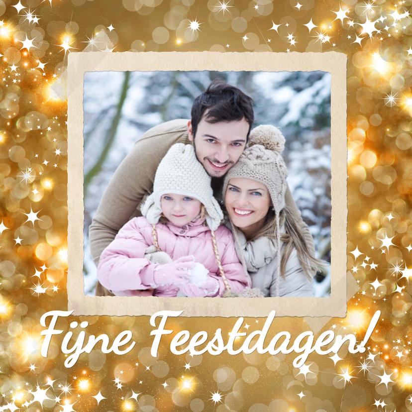 Kerstkaarten - Vrolijke goudkleurige kerstkaart