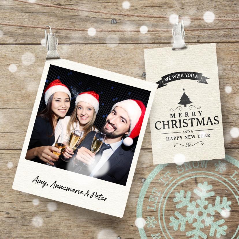 Kerstkaarten - Vrolijke kerstkaart label foto