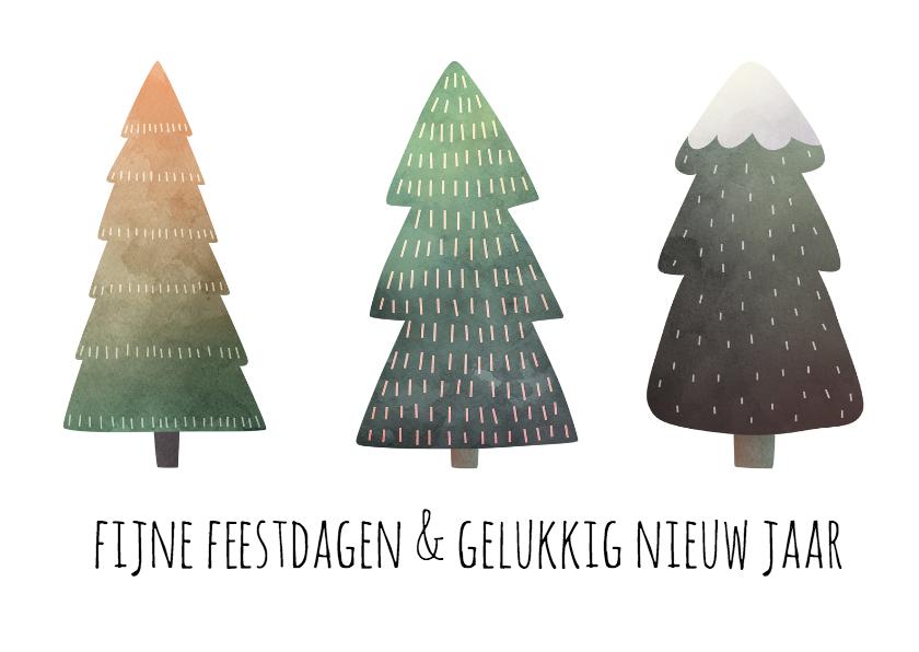 Kerstkaarten - Winter bomen kerst