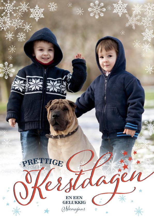Kerstkaarten - Winter Sneeuw kerst Vlok