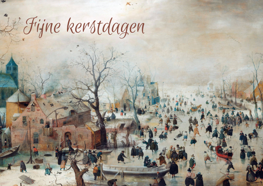 Kerstkaarten - Winterlandschap van Hendrick Avercamp kerstkaart