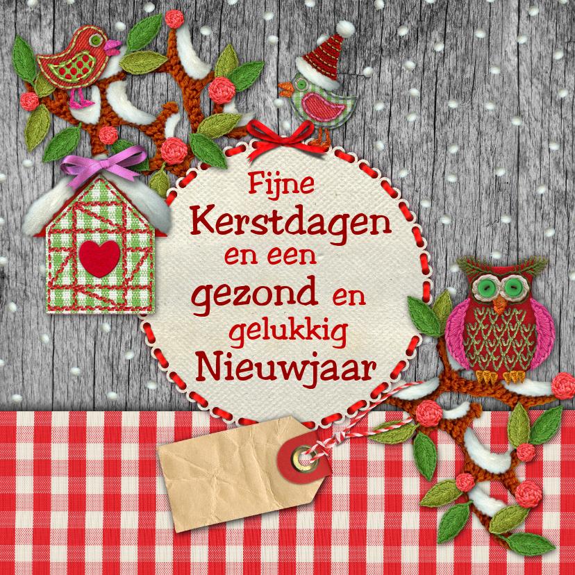 Kerstkaarten - YVON algemeen kerst uil sneeuw hip