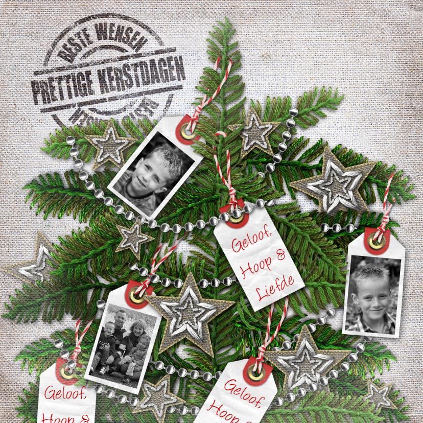 Kerstkaarten - YVON geloof hoop en Liefde kerstboom vk