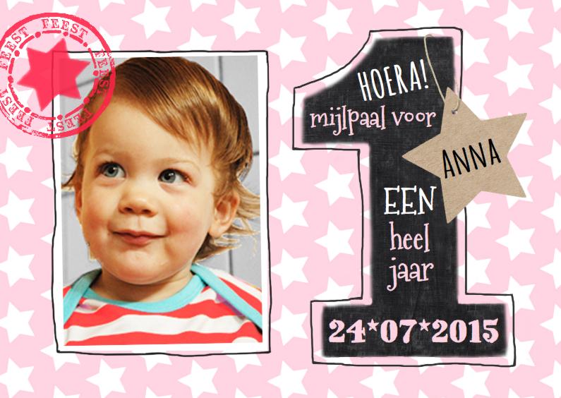 Kinderfeestjes - 1 jaar meisje sterren