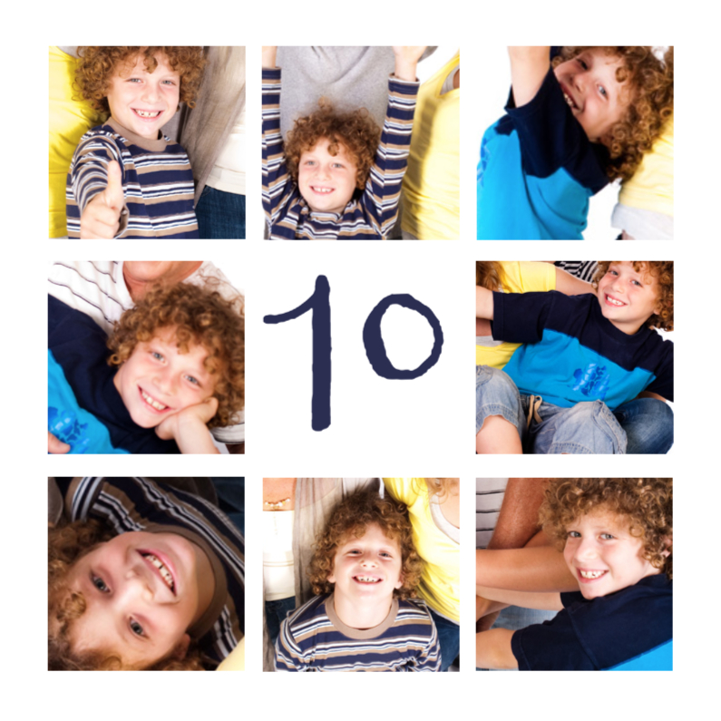 Kinderfeestjes - Collage Feestje 9 foto's - BK