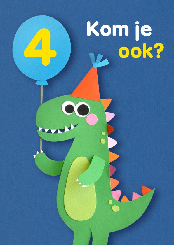 Kinderfeestjes - Dino met ballon kinderfeestje