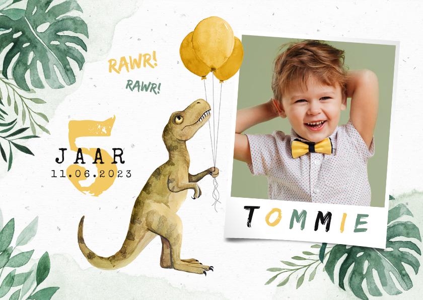 Kinderfeestjes - Dinosaurus kinderfeestje waterverf dino ballonnen foto