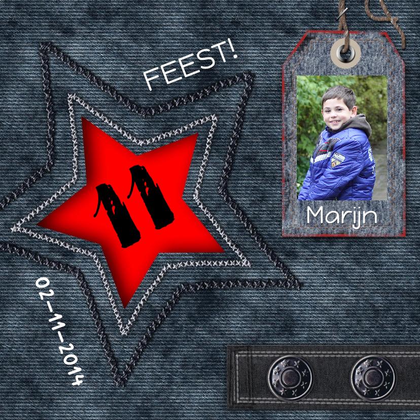 Kinderfeestjes - feest ster plaats foto en tekst