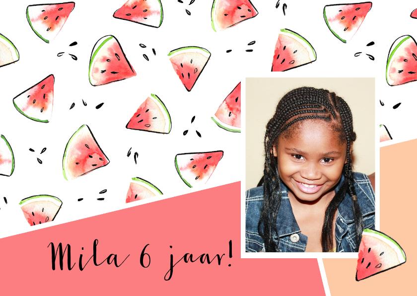 Kinderfeestjes - Feest uitnodiging watermeloen