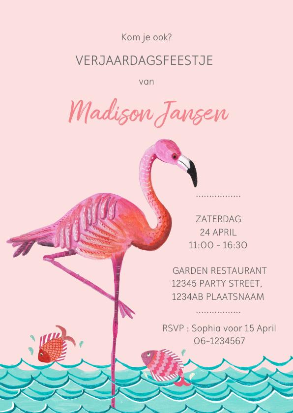 Kinderfeestjes - Flamingo Kinderfeestje met water en vissen