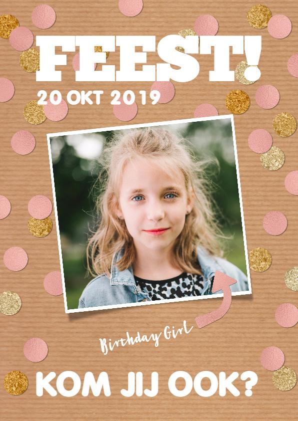 Kinderfeestjes - Hippe uitnodigingskaart voor een leuk feestje
