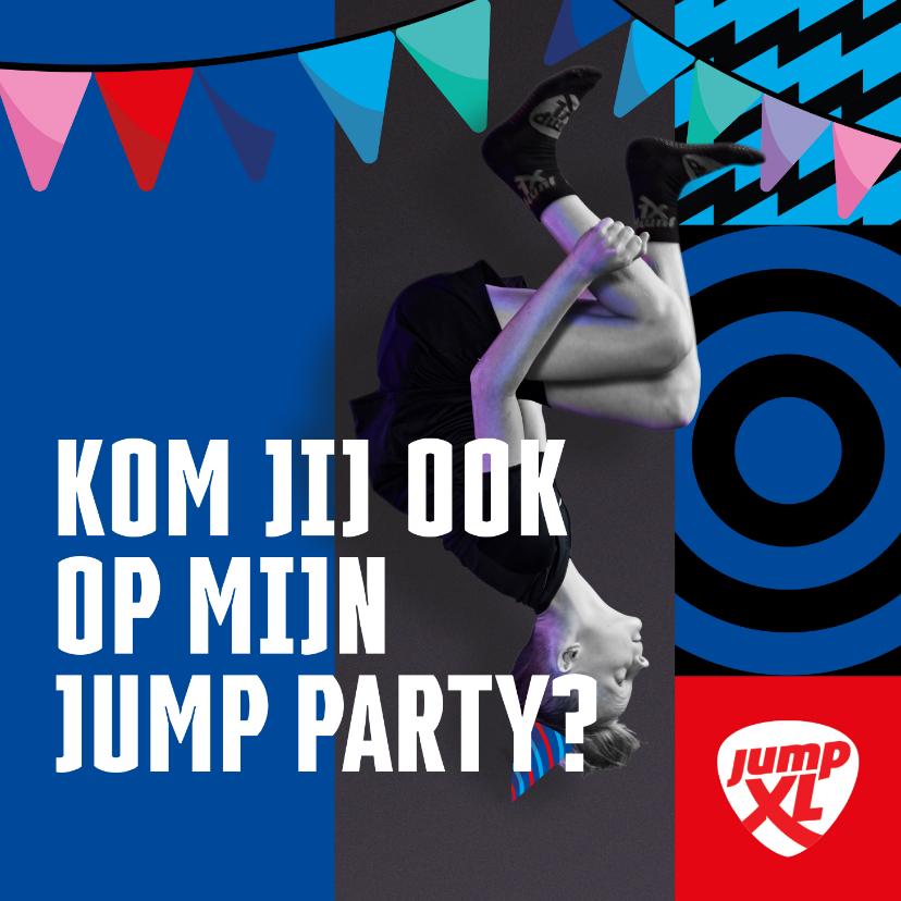 Kinderfeestjes - Jump XL kinderfeest uitnodiging Jongen