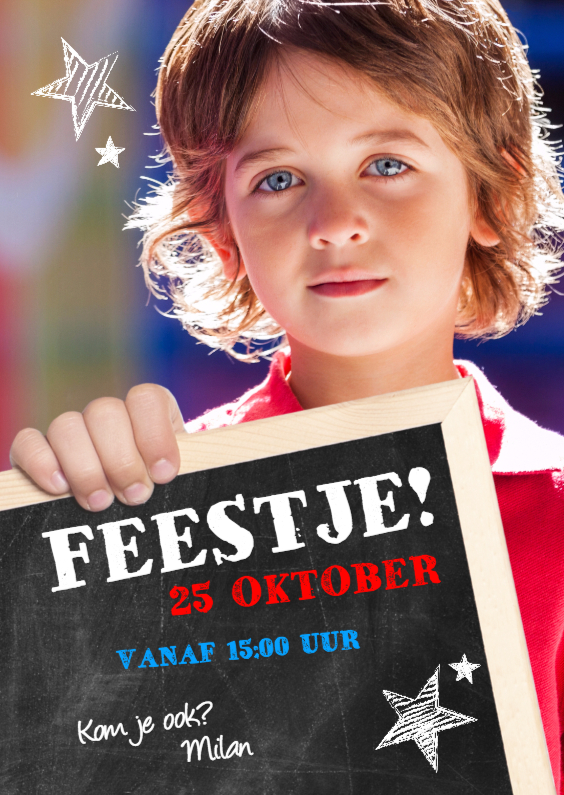 Kinderfeestjes - Kaart voor een feestje voor een jongen
