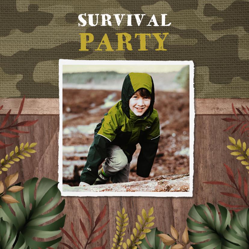 Kinderfeestjes - Kinderfeest uitnodiging stoer en avontuurlijk