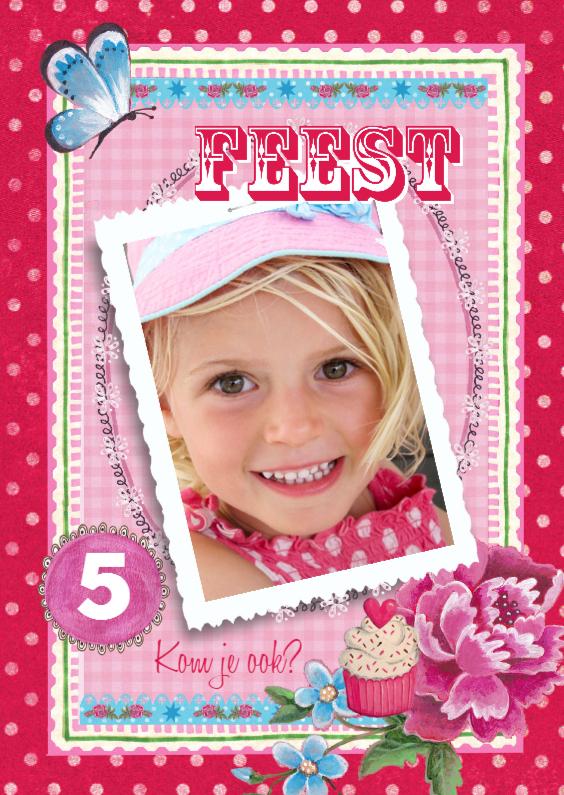 Kinderfeestjes - Kinderfeest Vrolijk Meisje Roos