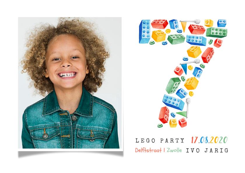Kinderfeestjes - Kinderfeestje 7 jaar lego party vrolijk kleurrijk foto