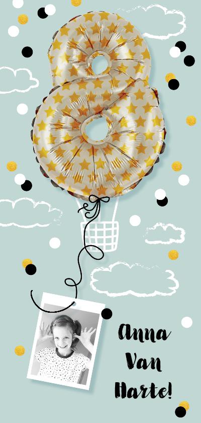 Kinderfeestjes - Kinderfeestje  acht  jaar luchtballon