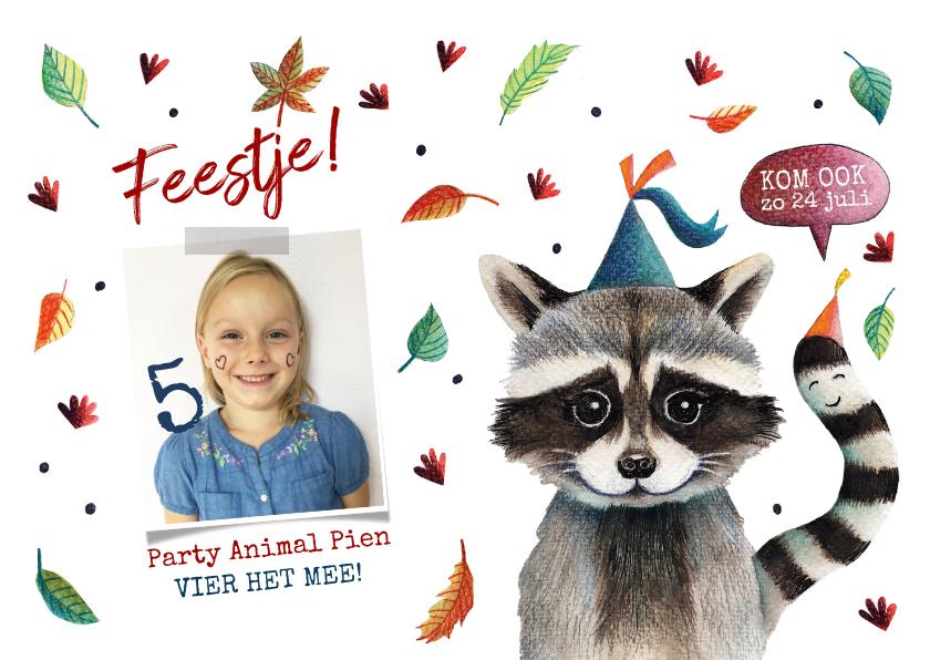 Kinderfeestjes - Kinderfeestje arty animal wasbeer