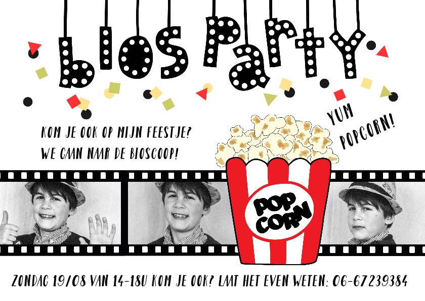 Kinderfeestjes - Kinderfeestje bioscoop fotocollage kind
