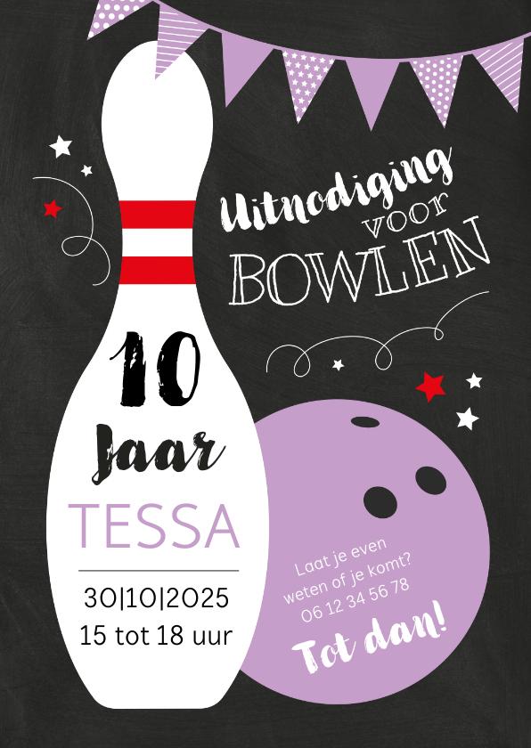 Kinderfeestjes - Kinderfeestje bowlen paarse bal