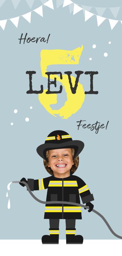 Kinderfeestjes - Kinderfeestje brandweer brandweerman feestje slingers