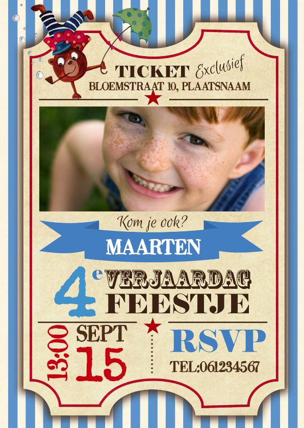 Kinderfeestjes - Kinderfeestje Circus Ticket feestje
